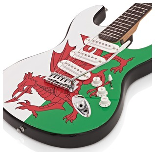LA Electric Guitar by Gear4music, Welsh Flag