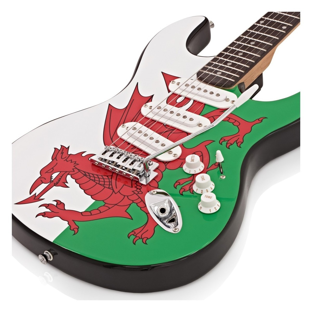 la electric guitar complete pack welsh flag at gear4music. Black Bedroom Furniture Sets. Home Design Ideas