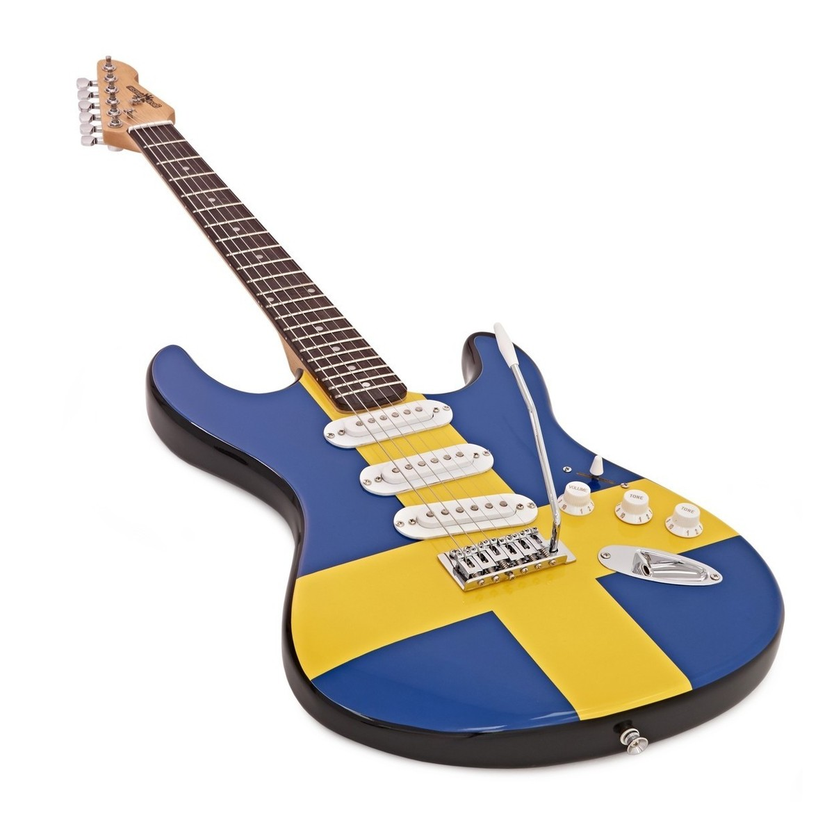 la electric guitar complete pack swedish flag at gear4music. Black Bedroom Furniture Sets. Home Design Ideas