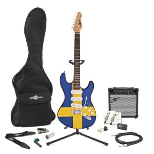 LA Electric Guitar + Complete Pack, Swedish Flag