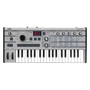 Korg microKORG Synthesizer, Platinum from above