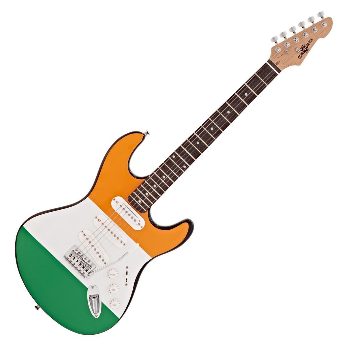 la electric guitar by gear4music irish flag at gear4music com