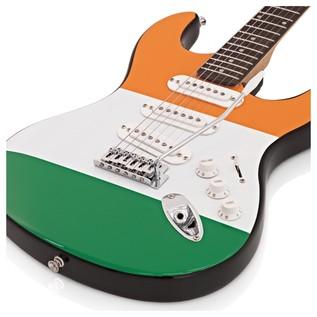 LA Electric Guitar by Gear4music, Irish Flag