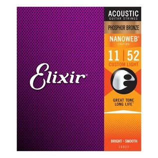 Elixir E16027 Nanoweb Custom Light Strings,