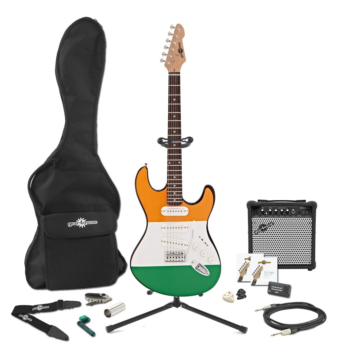 la electric guitar complete pack irish flag at gear4music. Black Bedroom Furniture Sets. Home Design Ideas