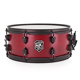 SJC Drums 14 x 6 Pathfinder Snare Drum, Crimson w/ Black Hardware