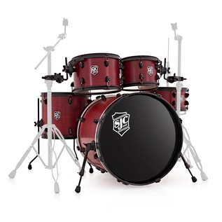 SJC Drums Pathfinder 20 5 Piece Shell Pack Crimson Black HW