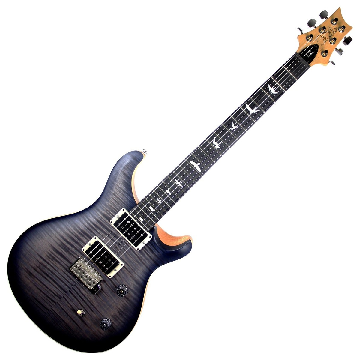 Click to view product details and reviews for Prs Ce 24 Satin Ltd Electric Guitar Faded Grey Black Purple Burst.