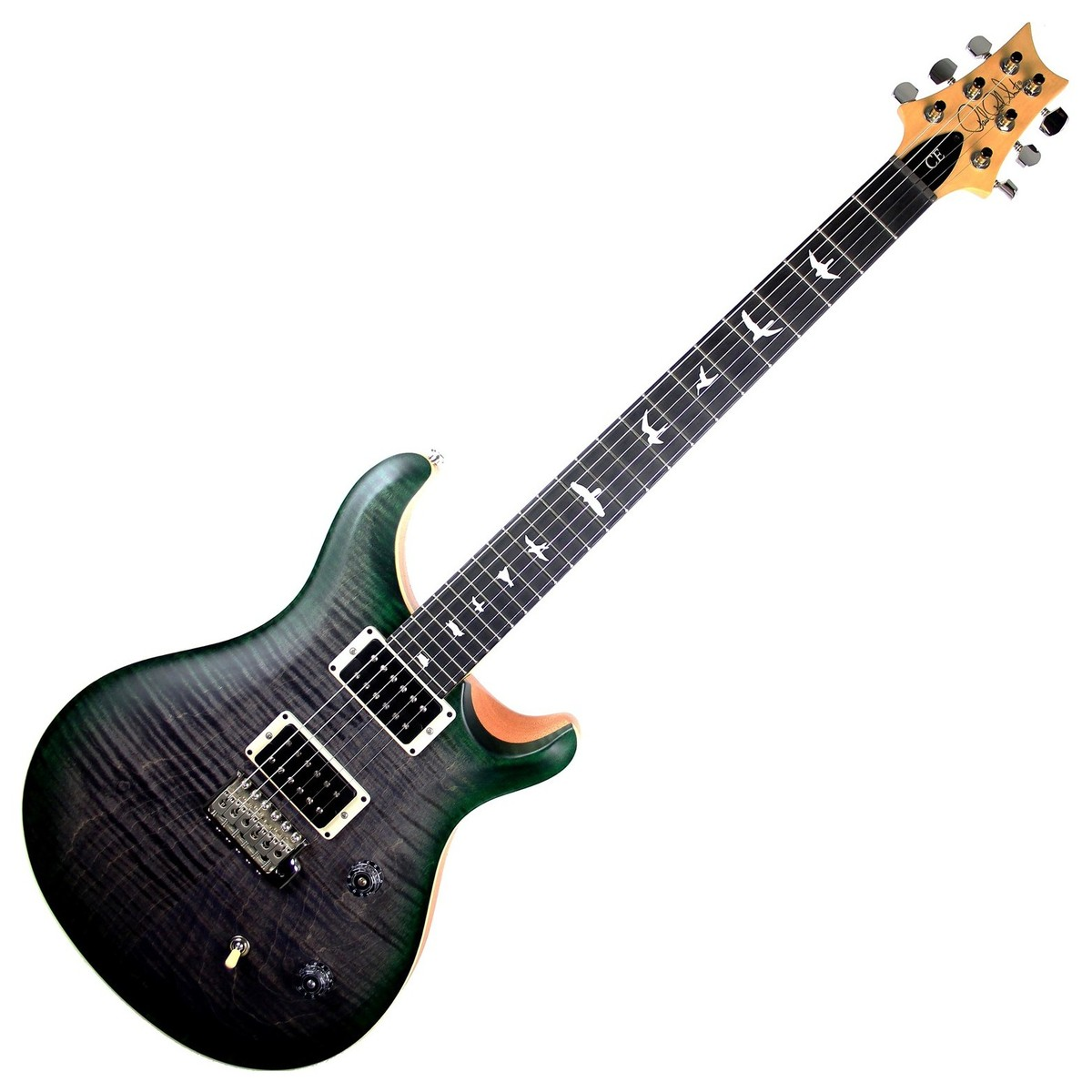 Prs Ce 24 Satin Ltd Electric Guitar Faded Grey Black Green Burst