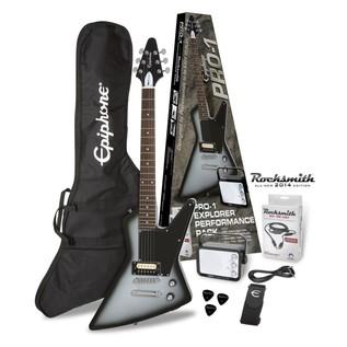 Epiphone PRO-1 Explorer Rocksmith Pack, Silverburst 1