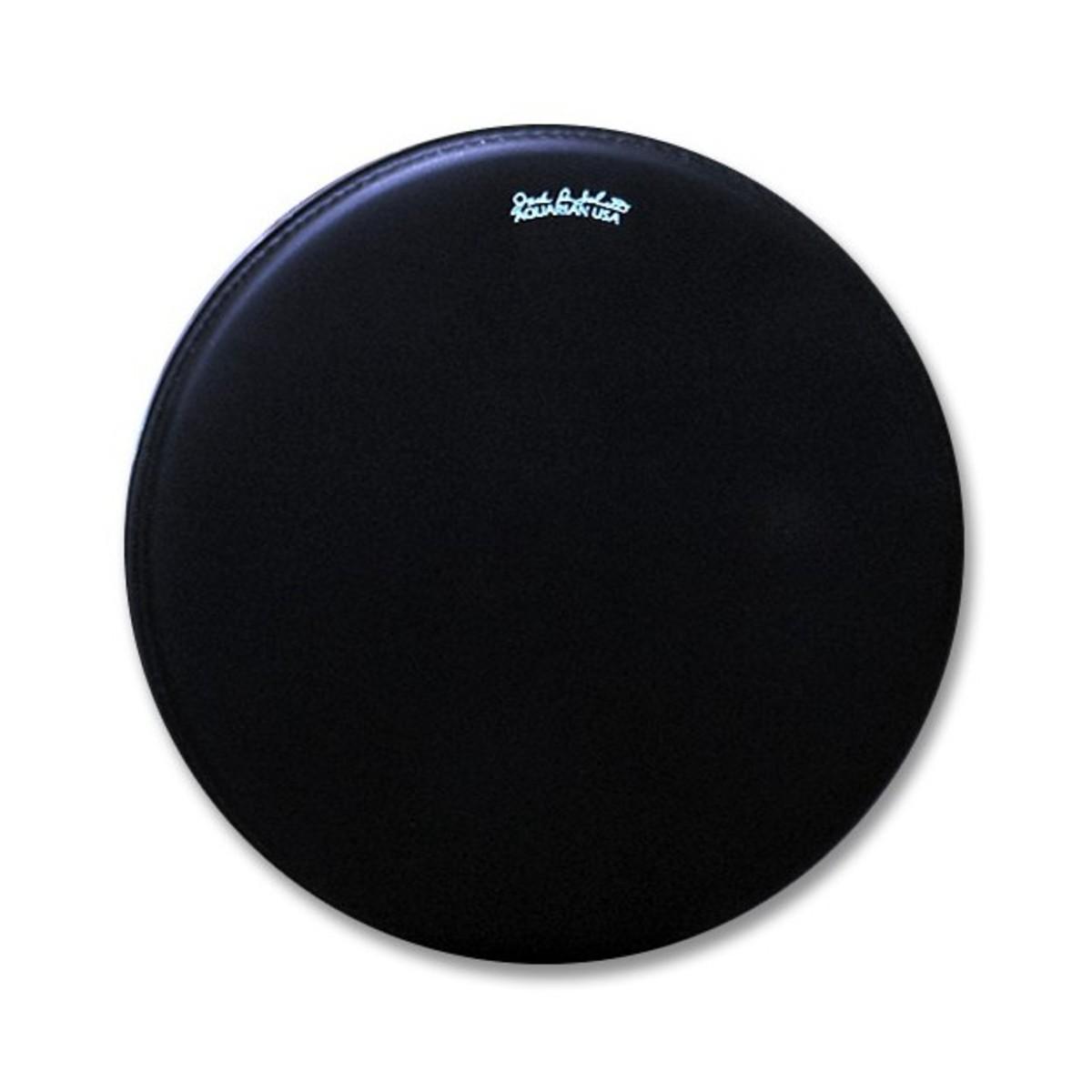 aquarian jack dejohnette texture coated 18 39 39 bass drum head black at gear4music. Black Bedroom Furniture Sets. Home Design Ideas