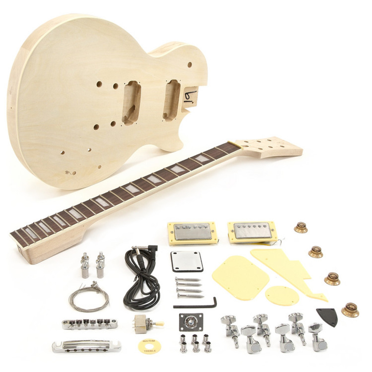 new jersey electric guitar diy kit box opened at gear4music. Black Bedroom Furniture Sets. Home Design Ideas