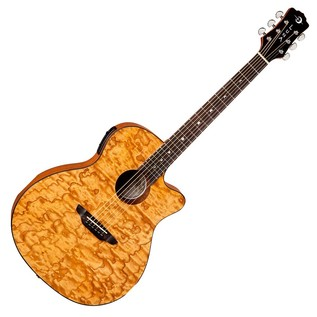Luna Gypsy Quilt Ash Natural Electro Acoustic Guitar