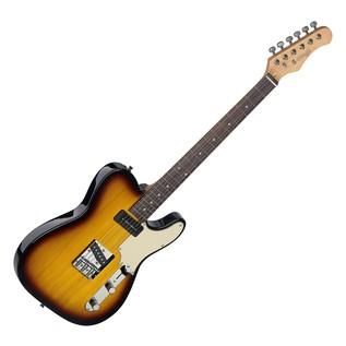 Stagg Vintage T Custom Electric Guitar, Brown Sunburst