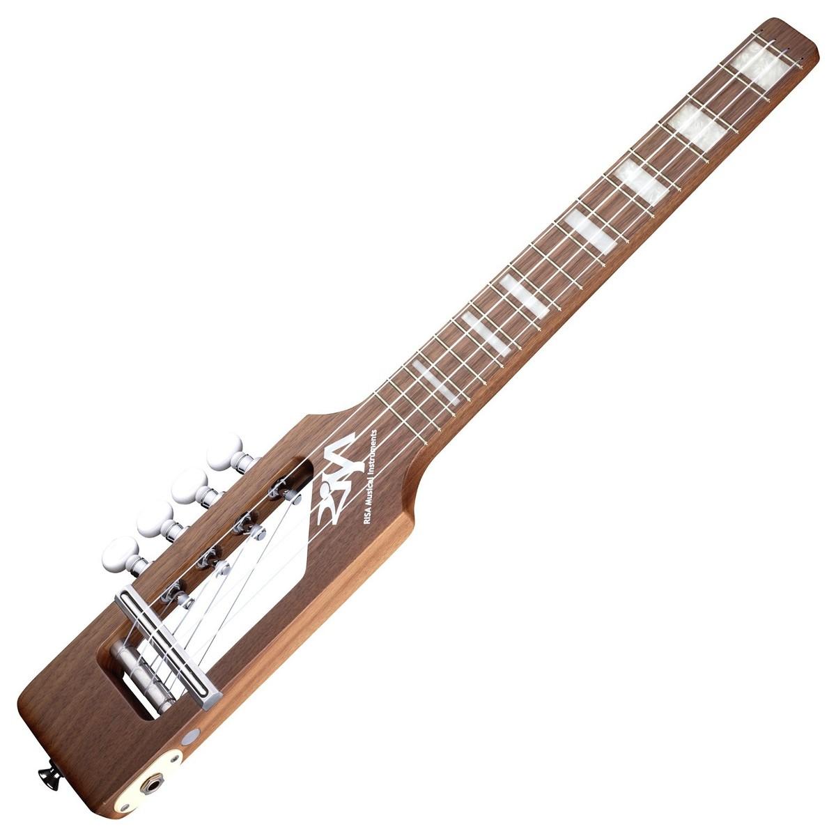 risa uke solid tenor electric ukulele natural at gear4music