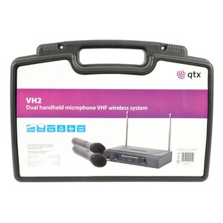 QTX VHF Dual Handheld Microphone System ABS Case