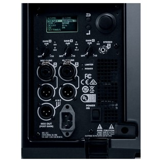 QSC K12.2 Rear Control Panel