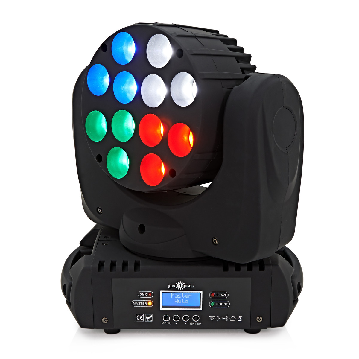 12 x 10w LED Moving Head Light by Gear4music - B-Stock