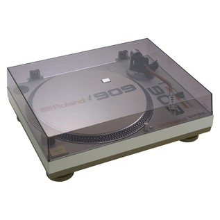 Roland TT-99 Direct Drive Turntable - Angled With Cover