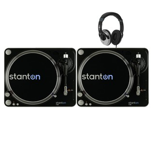 Stanton T.62 Direct Drive Turntables (x2) With Free Headphones - Bundle