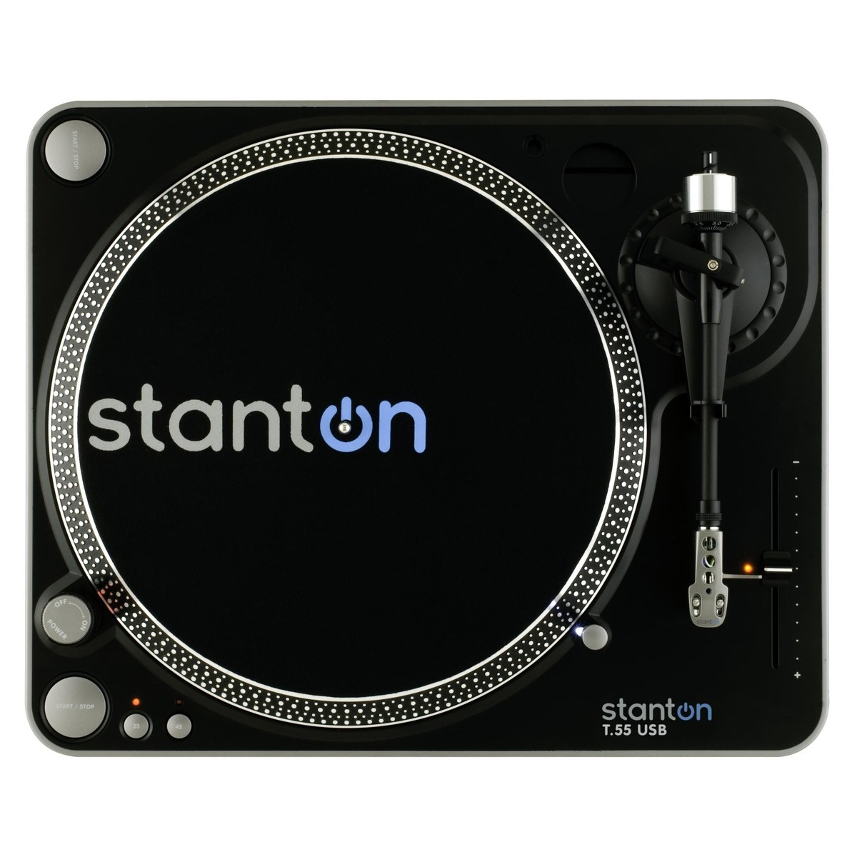 DISC Stanton T 55 Belt-Drive USB Turntables (x2) With Mixer