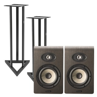 Focal Shape 65 Studio Monitors (Pair) With Stands - Bundle