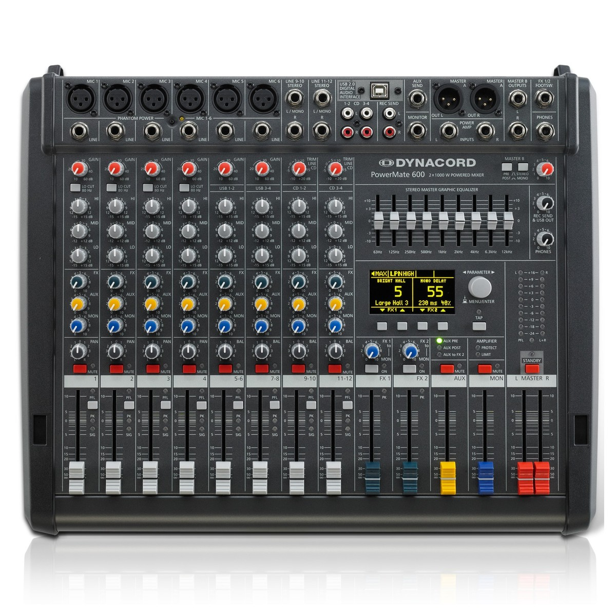 Click to view product details and reviews for Dynacord Powermate 600 3 8 Channel Powered Mixer.