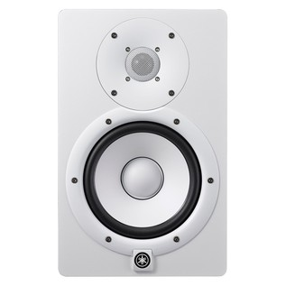 Yamaha HS7W Full-Range Studio Monitor, White with Monitor Stands 2