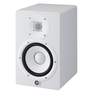 Yamaha HS7W Full-Range Studio Monitor, White with Monitor Stands 3