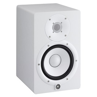 Yamaha HS7W Full-Range Studio Monitor, White with Monitor Stands 4