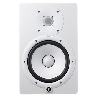 Yamaha HS8W Full-Range Studio Monitor (Pair), White with Stands 2