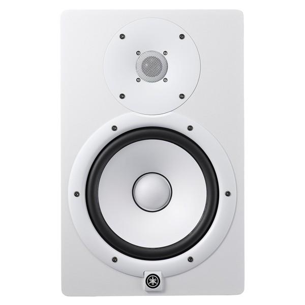 Yamaha HS8W Full-Range Studio Monitor (Pair), White with Stands 2