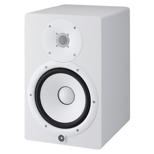 Yamaha HS8W Full-Range Studio Monitor (Pair), White with Stands 3