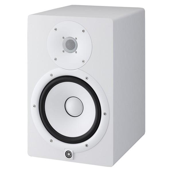 Yamaha HS8W Full-Range Studio Monitor (Pair), White with Stands 3