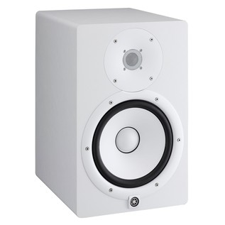 Yamaha HS8W Full-Range Studio Monitor (Pair), White with Stands 4