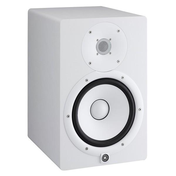 Yamaha HS8W Full-Range Studio Monitor (Pair), White with Stands 4