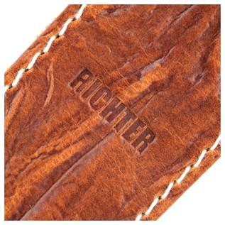 Richter 1514 Raw II Contour Wrinkle Tan Guitar Strap 3