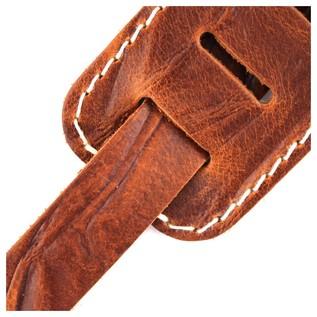 Richter 1514 Raw II Contour Wrinkle Tan Guitar Strap 5