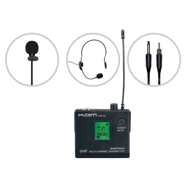 KAM KWM1960 BP60 Wireless Microphone System