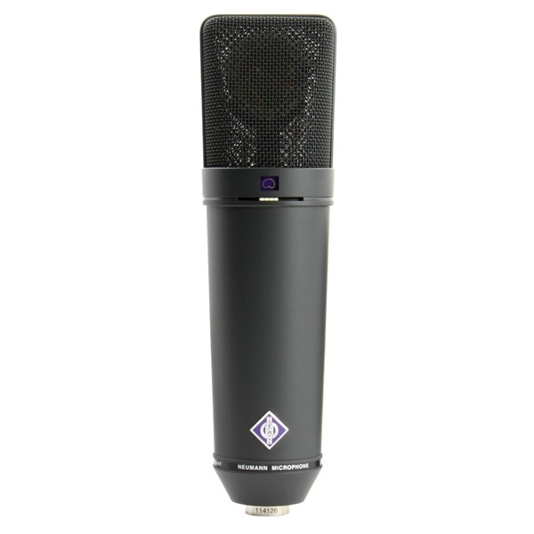 Neumann U 89 i mt Studio Microphone, Black - Front
