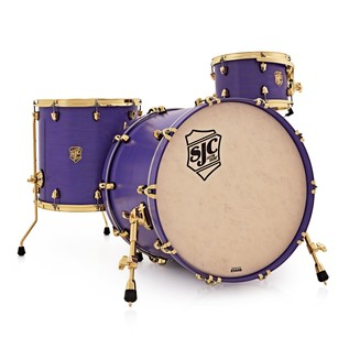 SJC Drums Colour Rush Ltd Ed Shell Pack, Purple with Brass HW