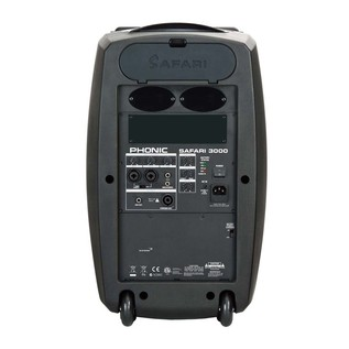 Phonic Safari 3000 320w Mobile PA System with 3 Channel Mixer