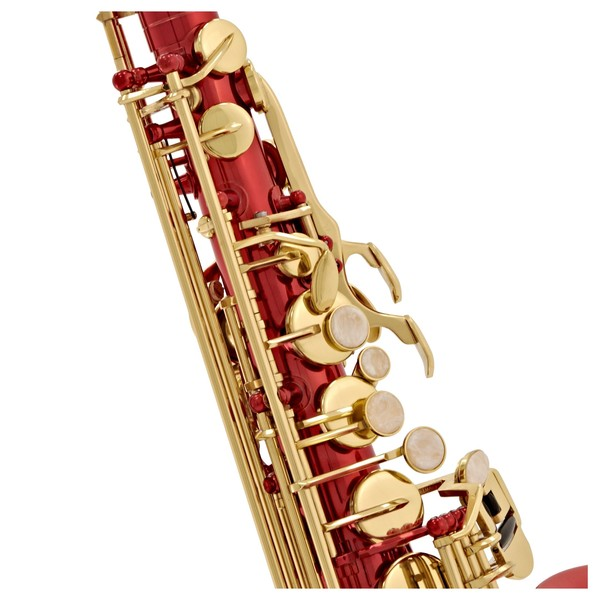 Elkhart 100AS Student Alto Saxophone, Red