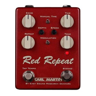 Carl Martin Red Repeat 2016 Edition Delay Pedal 1