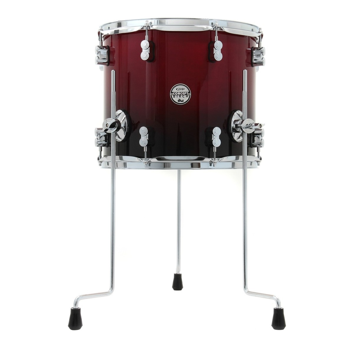 Pdp Concept 14 X 12 Floor Tom Cherry To Black Fade At