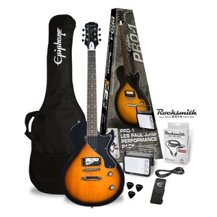 Epiphone Pro-1 Les Paul Electric Guitar Pack with Rocksmith, Sunburst