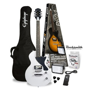 Epiphone Pro-1 Les Paul Electric Guitar Pack with Rocksmith, White