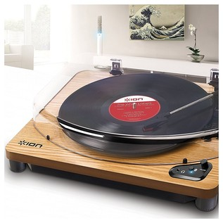 ION Audio Air LP, Bluetooth Turntable with USB Conversion, Wood - Lifestyle
