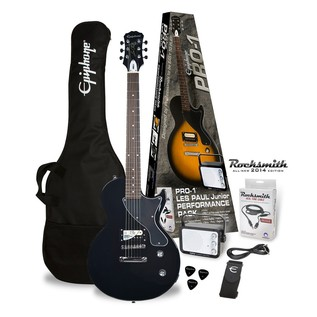 Epiphone Pro-1 Les Paul Electric Guitar Pack with Rocksmith, Ebony