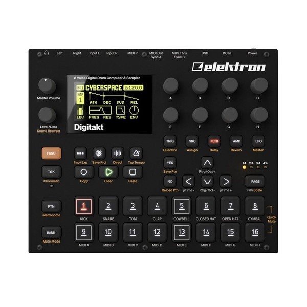 Elektron Digitakt Drum Machine & Sampler - Top